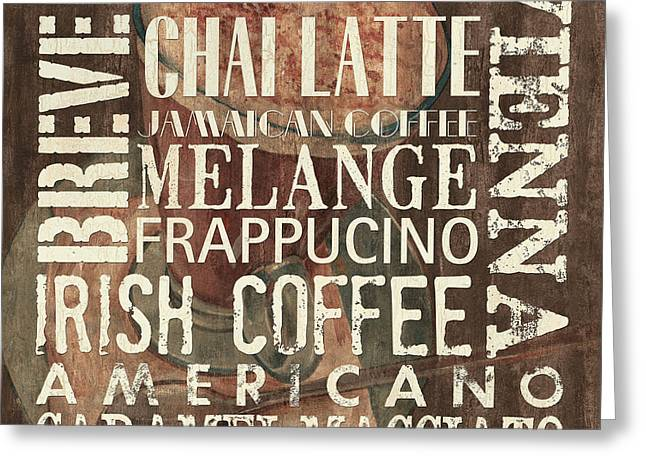 Caffe Latte Greeting Cards - Coffee of the Day 1 Greeting Card by Debbie DeWitt