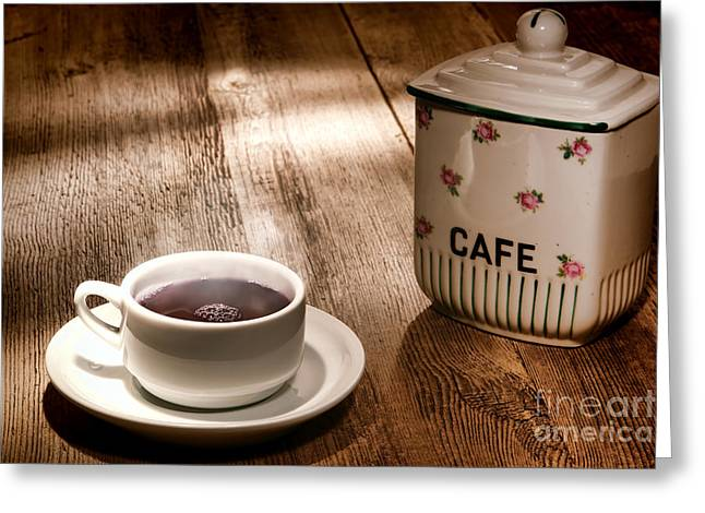 Coffee Table Greeting Cards - Coffee Greeting Card by Olivier Le Queinec