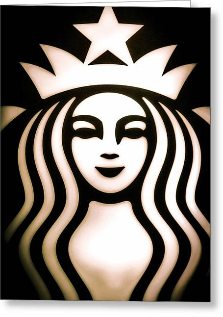 Italian Cafe Greeting Cards - Coffee Queen Greeting Card by Spencer McDonald