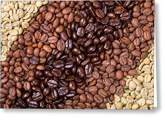 Coffee Selection Greeting Card by Jane Rix