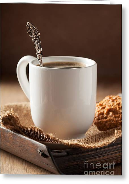 Coffee Table Greeting Cards - Coffee Spoon Greeting Card by Amanda And Christopher Elwell