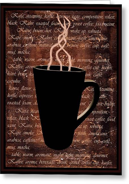 Saint Jean Art Gallery Greeting Cards - Coffee Time Greeting Card by Barbara St Jean