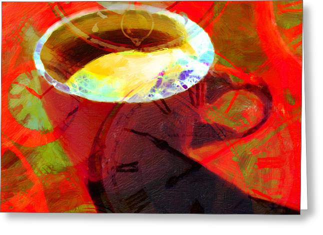 Coffee Time My Time 5d24472m12 Square Greeting Card by Wingsdomain Art and Photography