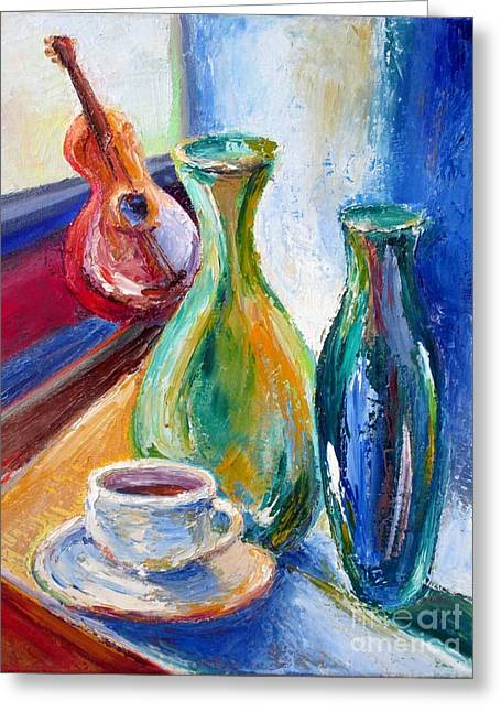 Frederick Luff Greeting Cards - Coffee Vases  Greeting Card by Frederick  Luff