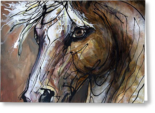 Paso Fino Stallion Greeting Cards - Coffee with Creme Greeting Card by Jonelle T McCoy