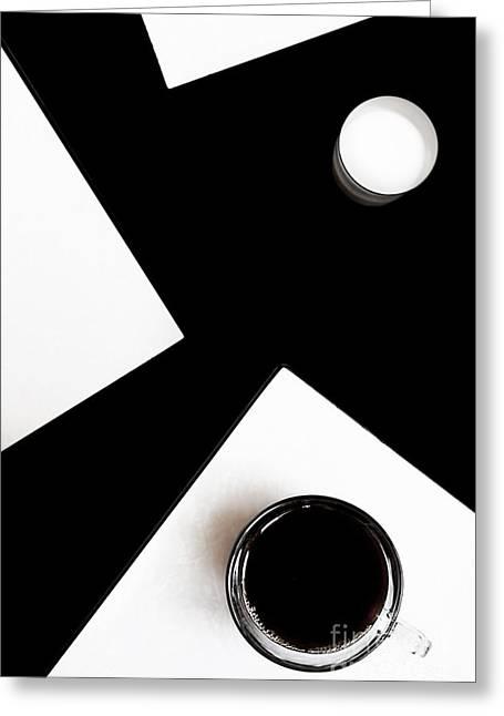 Coffee Drinking Digital Art Greeting Cards - Coffee with milk Greeting Card by Elena Lir-Rachkovskaya