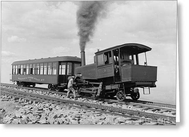 Cog Greeting Cards - Cog Train Railway Greeting Card by Celestial Images
