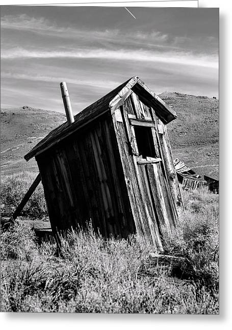 Old West Towns In California Greeting Cards - Cognitive Dissidence BW Greeting Card by Denise Dube