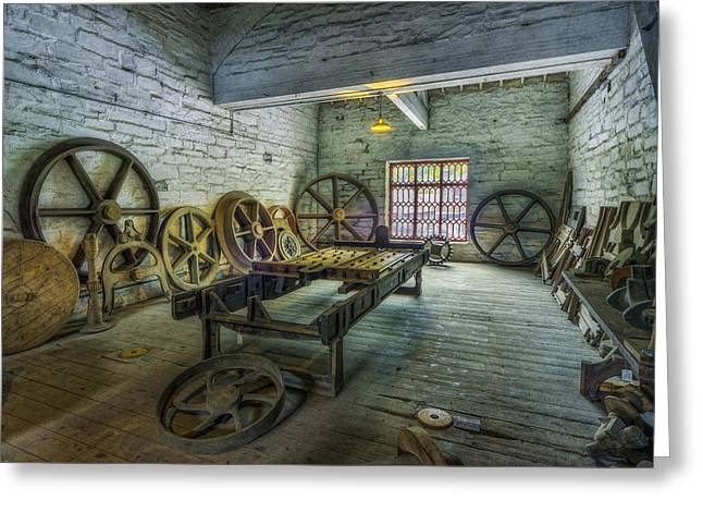 Cog Wheels Greeting Cards - Cogs and Wheels Greeting Card by Ian Mitchell