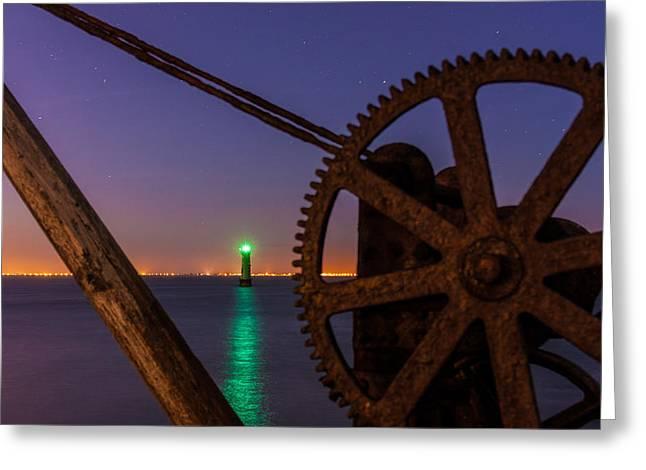 Cogwheel Framing Greeting Card by Semmick Photo