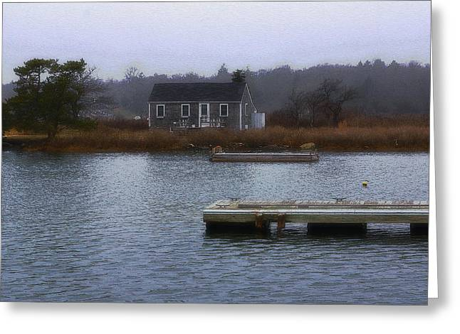 Cohasset Greeting Cards - Cohasset Cabin Greeting Card by Carol Sutherland