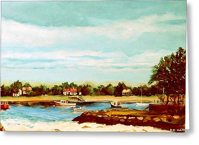 Cohasset Greeting Cards - Cohasset Harbor Greeting Card by Robert Harvey