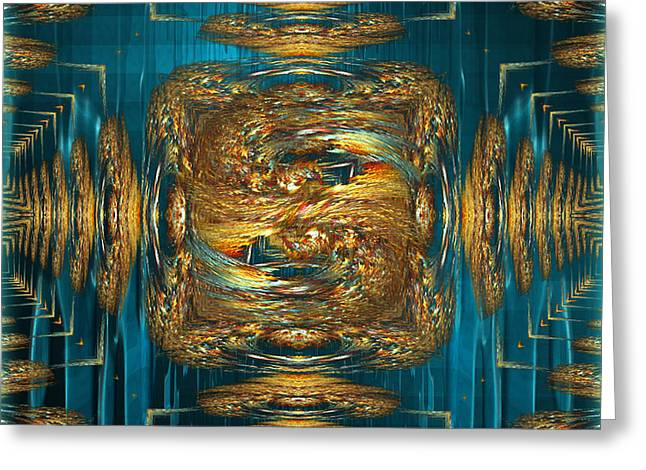 Coherence - abstract art by Giada Rossi Greeting Card by Giada Rossi