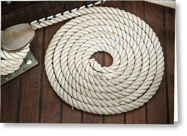 Sailer Greeting Cards - Coiled Greeting Card by Dale Kincaid