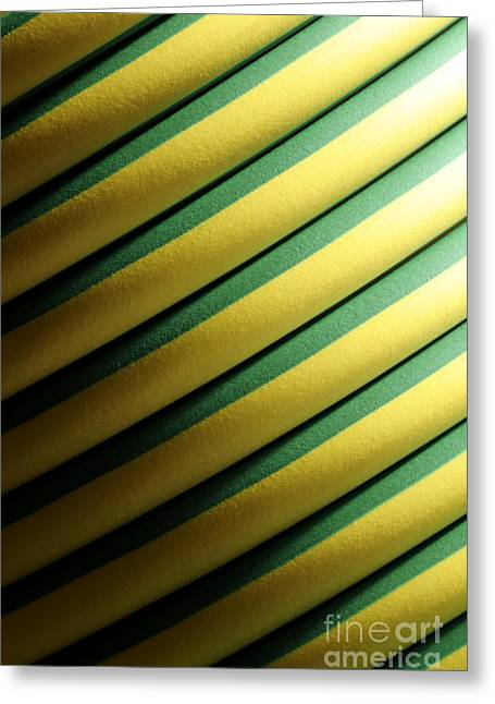 Abstractions Greeting Cards - Coiled Greeting Card by Doug Wilton