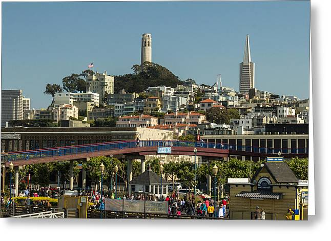 Oakland Neighborhood Greeting Cards - Coit Tower Greeting Card by Ken Kobe