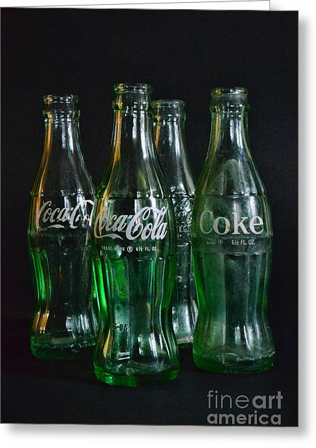 Coke Bottles From The 1950s Greeting Card by Paul Ward