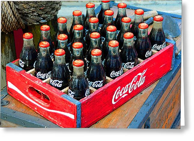 Coke Case Greeting Card by David Lee Thompson