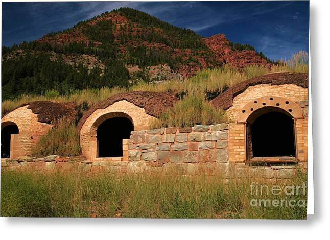 Coke Ovens Greeting Card by Adam Jewell