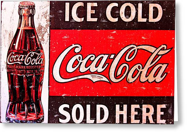 Coke Greeting Card by Reid Callaway