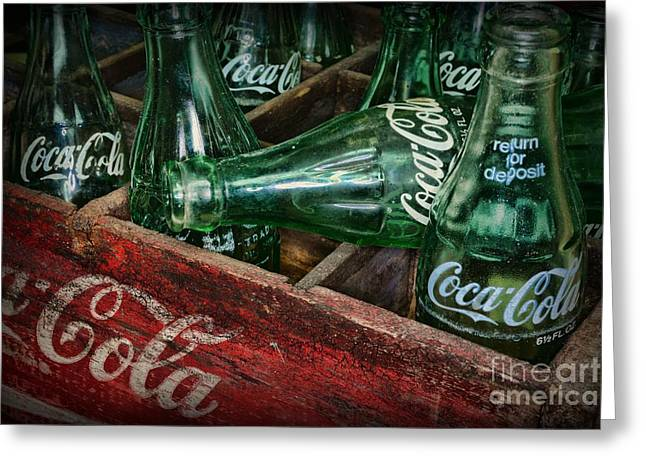 Glass Bottle Greeting Cards - Coke Return for Deposit Greeting Card by Paul Ward