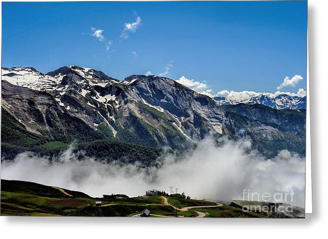 Rosary Greeting Cards - Col D Aubisque France - 03 Greeting Card by Graham Taylor