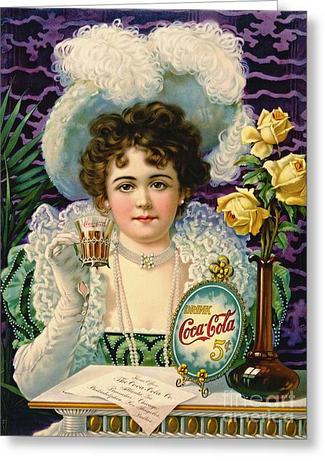 Social Relations Greeting Cards - Cola Ad 1890 Greeting Card by Padre Art