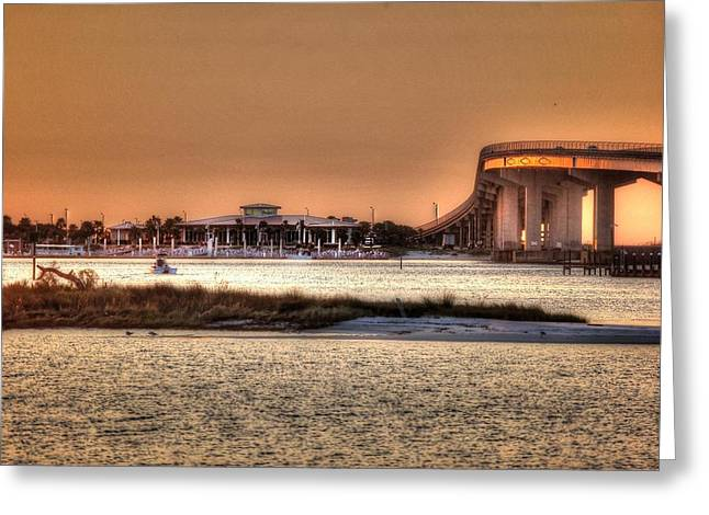 Crimson Tide Greeting Cards - Colbalt and Bridge Greeting Card by Michael Thomas