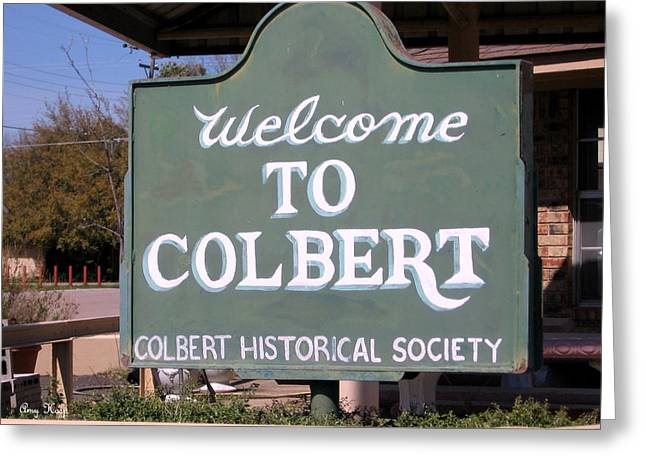 Colbert Greeting Cards - Colbert Oklahoma Greeting Card by Amy Hosp