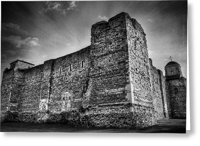 Frightening Castle Greeting Cards - Colchester Castle Greeting Card by Svetlana Sewell