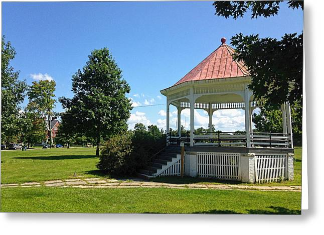 Charlotte Vermont Greeting Cards - Colchester Vermont Gazebo Greeting Card by William Alexander