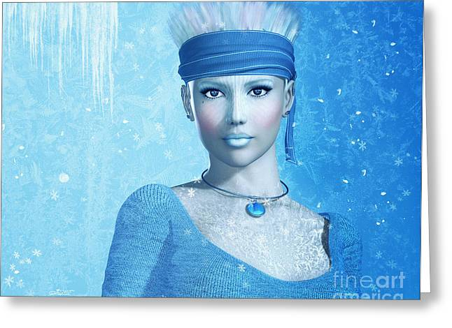 Frosting Greeting Cards - Cold as Ice Greeting Card by Jutta Maria Pusl
