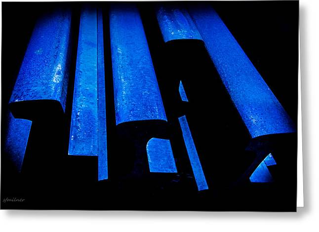 Youthful Greeting Cards - Cold Blue Steel Greeting Card by Steven Milner