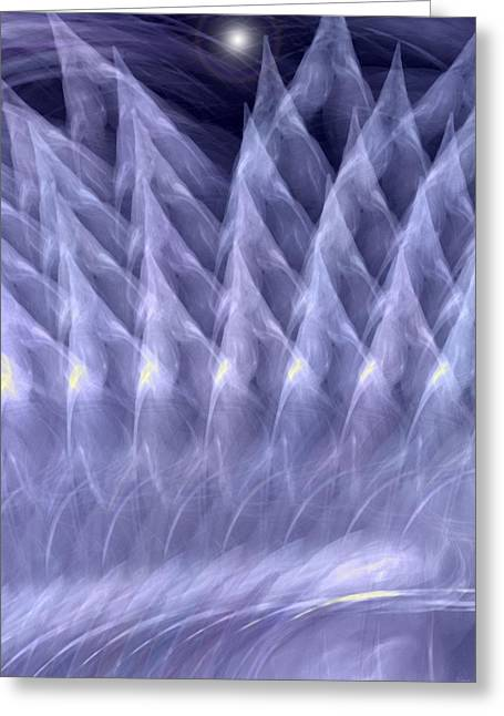 Vinter Greeting Cards - Cold cold vinter Greeting Card by Angelica G-N Zizela