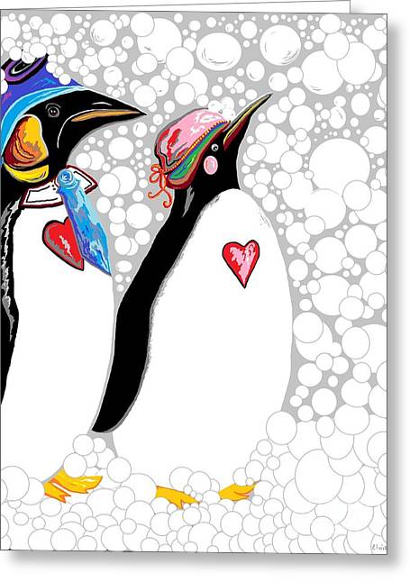 Love The Animal Greeting Cards - Cold Feet Warm Hearts Greeting Card by Eloise Schneider