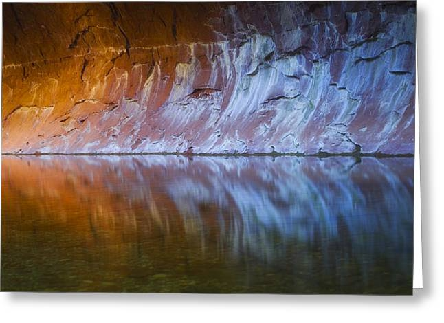 West Fork Greeting Cards - Cold Fire Greeting Card by Peter Coskun