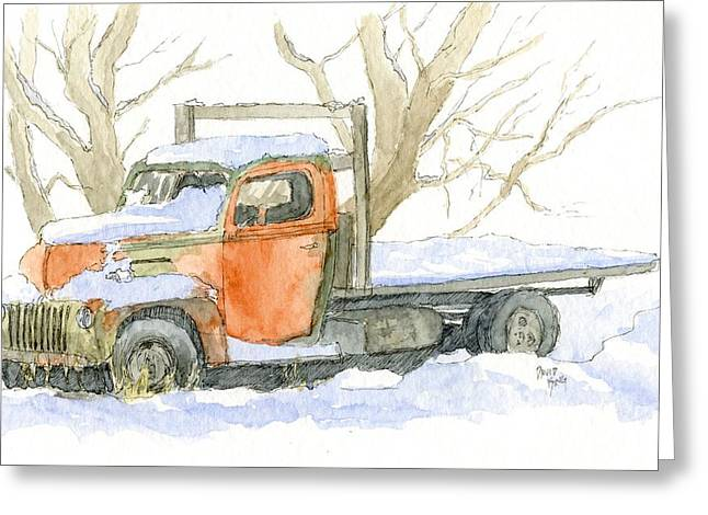 Rust Drawings Greeting Cards - Cold Ford Greeting Card by David King