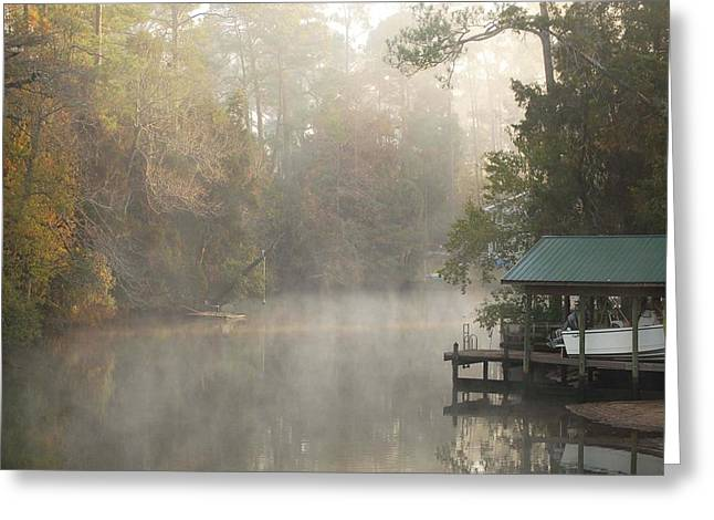 Crimson Tide Greeting Cards - Cold Hole Misty Morning Greeting Card by Michael Thomas