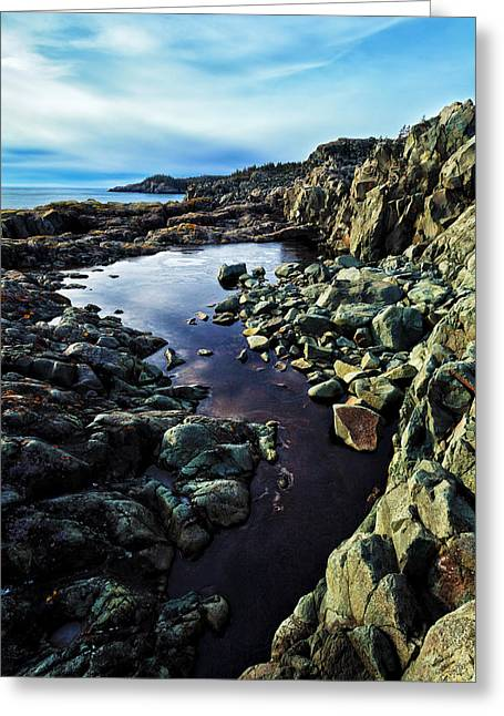 Ocean Art Photography Greeting Cards - Cold Morning at Cutler Coast Greeting Card by Bill Caldwell -        ABeautifulSky Photography