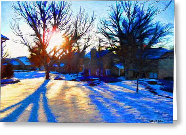 Cold Morning Sun Greeting Cards - Cold Morning Sun Greeting Card by Jeff Kolker