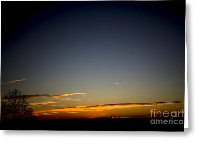 Cold Morning Sunrise Greeting Card by Michael Waters