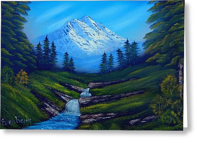 Bob Ross Paintings Greeting Cards - Cold Mountain Greeting Card by Fineartist Ellen
