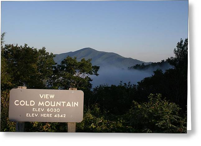 Stacy Bottoms Greeting Cards - Cold Mountain Sign Greeting Card by Stacy C Bottoms