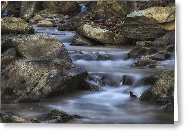 Babbling Greeting Cards - Cold Mountain Stream Greeting Card by Steve Hurt