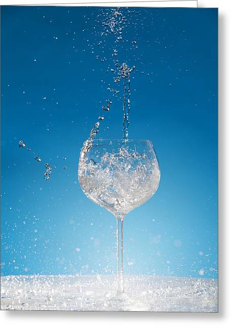 Spilled Wine Greeting Cards - Cold one Greeting Card by Alexey Stiop