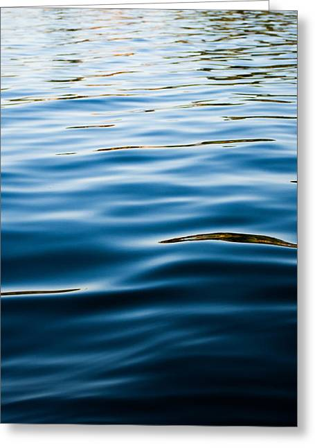 Sunset Abstract Photographs Greeting Cards - Cold Reflections Greeting Card by Parker Cunningham