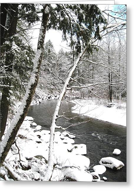 Cold River Greeting Card Greeting Card by Will Boutin Photos