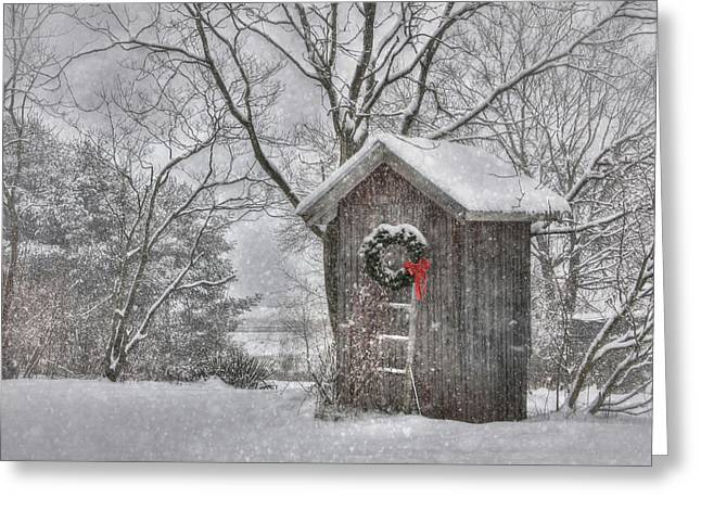 Cold Seat Greeting Card by Lori Deiter