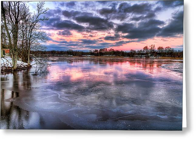 Cold Sunrise Greeting Card by EXparte SE