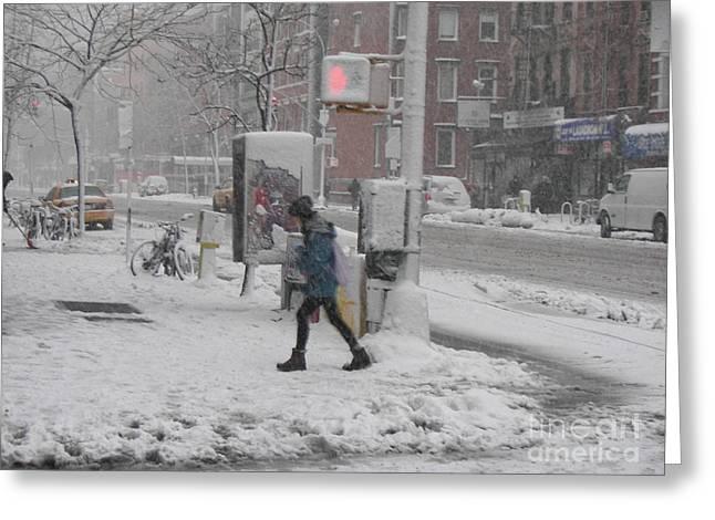 James Dolan Greeting Cards - Cold Walk Greeting Card by James Dolan